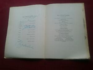 RARE 1957 VIRGINIA ZEANI+FLAVIANA LABÓ+CARLO TAGLIABUE HAND SIGNED PROGRAM