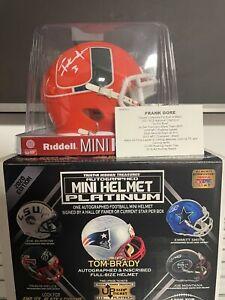 FRANK GORE 2020 Edition Tristar Hidden Treasures NFL Auto Mini Helmets Platinum