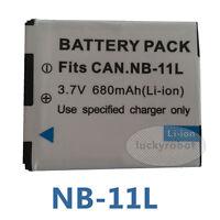 NB11L NB11LH NB-11L 11LH Batería Para Canon IXUS185 IXUS190 Powershot A2400IS