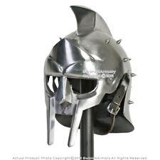 Gladiator Roman Maximus Style Gladiator Helmet Armor w/ Spikes Medieval Costume