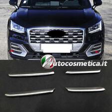 Audi Q2 4 Matt Nebelleuchten Blenden Leisten Molding Gebürstet