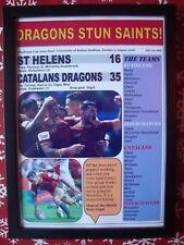 St Helens 16 Catalans Dragons 35 - 2018 Challenge Cup semi-final - framed print