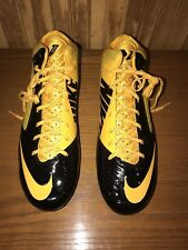 Mens Yellow/Black NIKE Vapor Speed 3/4 Mid,TD Football/Rugby Cleats, Size 14 NEW