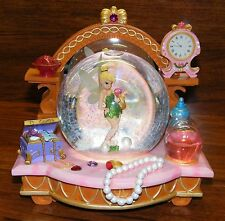 "Walt Disney ""You Can Fly"" Tinkerbell Snow Globe Peter Pan Musical Jewels Perfume"