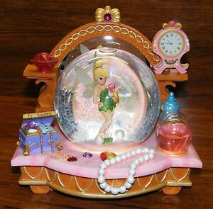 "Walt Disney ""You Can Fly"" Tinkerbell Snow Globe Peter Pan Musical Jewels Perfume"