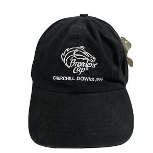 Breeders Cup 2006 Churchill Downs Strapback Black Horse Racing Hat