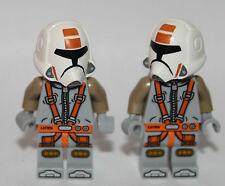 2 LEGO STAR WARS vecchia Repubblica PILOTA-personalizzati utilizzando solo le parti Lego