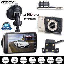 "XGODY Dashcam 4"" Auto Kamera 1080P HD Video Recorder KFZ DVR Nachtsicht G-Sensor"