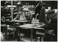 Original Alfred Statler Noir NYC Nighttime Diner Hells Kitchen Photograph 1960s