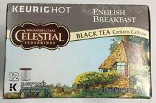 Celestial Seasonings English Breakfast Black Tea Keurig K-Cups 12 Ct. Exp 11/20