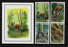 ZAIRE SC 1168-72 NH issue of 1984 - ANIMALS