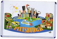 ARTIST'S VISION OF PITTSBURGH,PA 2007-A GREAT PLACE TO....