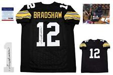 Terry Bradshaw Signed Jersey - PSA/DNA - Pittsburgh Steelers Autographed - Black