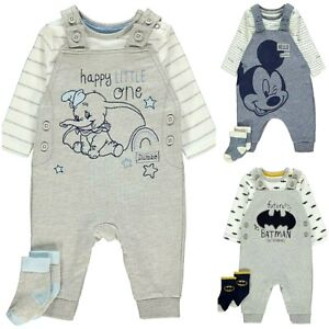 BABY DISNEY CHARACTER DUMBO / MICKEY CLOTHING DUNGAREES / COMPLETE  OUTFIT