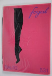 New Fogal Women's Pantyhose Size Small Rialto 531 Black Side Jeweled Party Cute