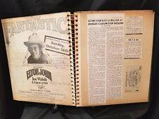 ELTON JOHN Concert Ticket Stub 1975 CAPTAIN FANTASTIC L.A. News Review and Ad