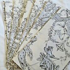 Set of 6 Williams Sonoma Brown Toile on Tan Cloth Napkins 100% Cotton 20x20