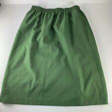 Bon Worth LP Large Petite Skirt Elastic Waist Olive Green