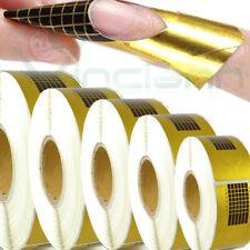 Kit 5x 500 Cartine adesive ricostruzione allungamento unghie gel uv nail art