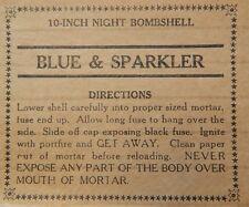 Hitt Fireworks Company Seattle, WA Blue & Sparkler Label Hitt's