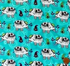 INDIAN ELEPHANTS ON JADE FROM CRAFT COTTON CO.- 100% COTTON FABRIC FQ'S