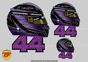 Lewis Hamilton 44 F1 Helmet Sticker - Scuderia GP