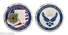 """NELLIS AIR FORCE BASE 57TH MAINTENANCE GROUP 1.75"""" CHALLENGE COIN"""