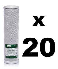 "20 x Filtro de bloque de carbón para unidades de ósmosis inversa, 10"",RO, Filtro De Agua fccbl"