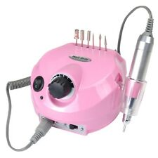 Pro Manicure Pedicure Electric Drill File Nail Art Pen Machine Kit Salon Pink