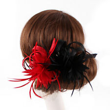 Women Races Feather Sinamay Decorations Clip Bride Party Wedding Fascinator