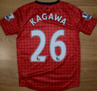 MANCHESTER UNITED 2012/2013 HOME FOOTBALL SHIRT NIKE KAGAWA #26 SIZE YL BOYS
