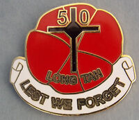 BATTLE OF LONG TAN 18TH AUGUST 1966 LEST WE FORGET LAPEL BADGE 30MM WITH 1 PIN