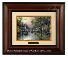 Thomas Kinkade Hometown Morning - Brushwork (Burl Frame)