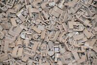 100 KNEX TAN WHEEL CLIP END CONNECTORS Bulk Standard K'NEX Parts/Pieces Lot