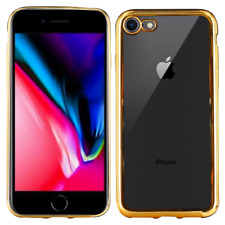 Coque silicone ELECTROPLATED iPhone 7+/8+ OR
