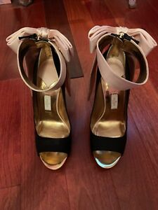 Kate Spade Pink Bow Satin Heel Size 10