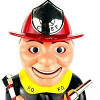 Original Fireman Cookie Jar Animated Firefighter Cookie Chief