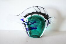 Murano Italian Art Glass -Sculpture or Figure - Amazing BLUE & GREEN FISH