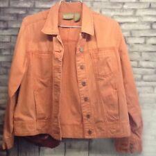 Blassport  Woman's Burnt Orange Cotton Denim Jacket Size M Medium.