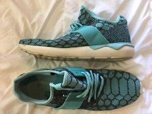 Adidas Tubular Runner PrimeKnit Snake Men's Size 13 Blue Gray B25572