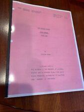 1976 KILL OSCAR script THE BIONIC WOMAN & SIX MILLION DOLLAR MAN