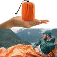 1x Outdoor First-Aid Survival Emergency Tent Blanket Sleep Bag Camping Shel H2M2
