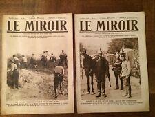"""2 ANCIENS MAGAZINES  """" LE MIROIR """"  1914"""