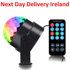 DJ Disco Ball Lighting 3W Sound Activated Projector Music Party Light Remote