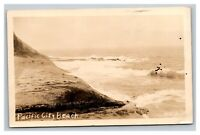 Vintage Early 1900's RPPC Pacific City Beach Oregon Photo Postcard POSTED