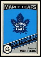 2019-20 UD OPC O-Pee-Chee Retro Base Team Checklist #577 Toronto Maple Leafs