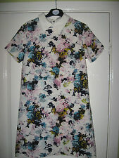 LADIES GLAMOROUS SIZE 8 PRETTY FLORAL TUNIC SUMMER DRESS