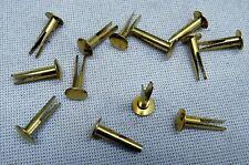 48 St. ZWEISPITZNIETEN Metall FARBE Gold SPREIZNIETEN Nieten STABIL Länge 17mm #