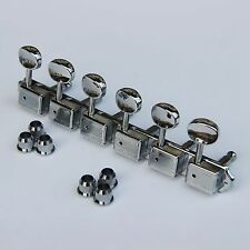 Wilkinson Deluxe WJ55S 6 In line Machine Heads / Tuners Chrome New Guitar parts