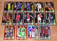 Adrenalyn 2016-2017 Ligue 1 lot of 14 different foil special insert cards NEW